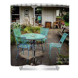 Shower Curtain featuring the photograph Color At Cafe by Perry Webster