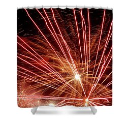 Shower Curtain featuring the photograph Color Blast Fireworks #0731 by Barbara Tristan