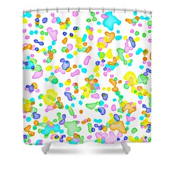 Color Blots Shower Curtain