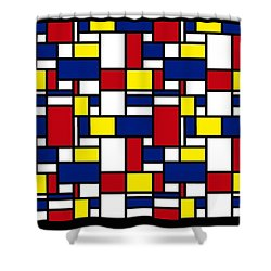 Color Box Shower Curtain