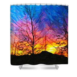 Color Burn Shower Curtain