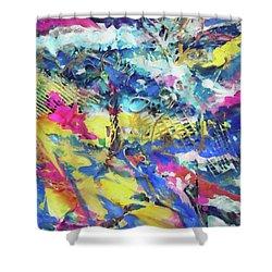 Color Burst Dynamic Shower Curtain