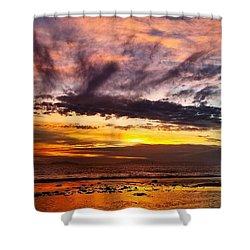 Color Burst Malibu Sunset Shower Curtain