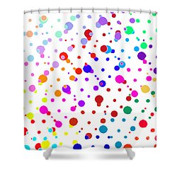 Color Cells Shower Curtain