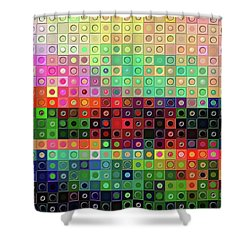 Shower Curtain featuring the digital art Color Coded by Wendy J St Christopher