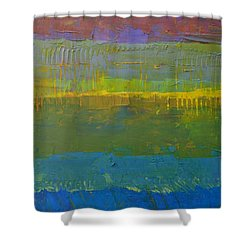 Color Collage Five Shower Curtain by Michelle Calkins