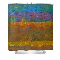 Color Collage One Shower Curtain by Michelle Calkins