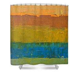 Color Collage Three Shower Curtain by Michelle Calkins