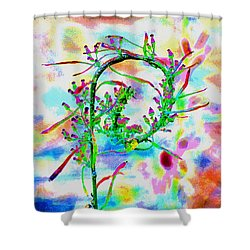 Color Curl Shower Curtain