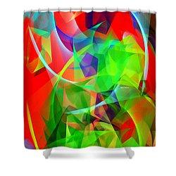 Shower Curtain featuring the digital art Color Dance 3720 by Rafael Salazar