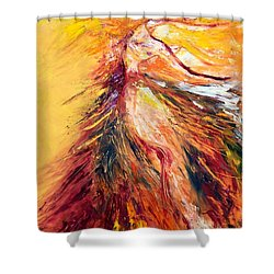 Shower Curtain featuring the painting Color Dance by Marat Essex