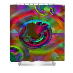 Shower Curtain featuring the digital art Color Dome by Lynda Lehmann