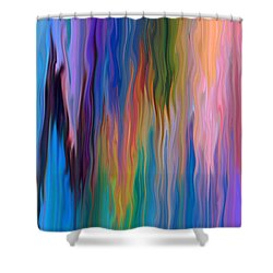 Color Drip Shower Curtain