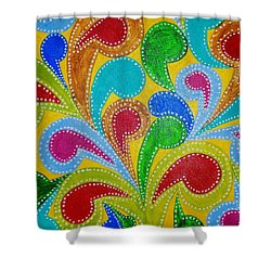 Color Explosion Shower Curtain