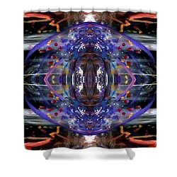 Shower Curtain featuring the digital art Color Eye by Michelle Audas