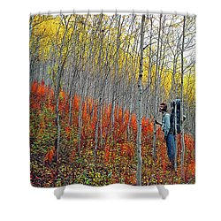 Color Fall Shower Curtain