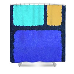 Shower Curtain featuring the painting Color Fields by Jutta Maria Pusl