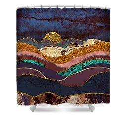 Color Fields Shower Curtain