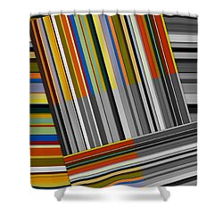 Shower Curtain featuring the digital art Color In Black And White by Michelle Calkins