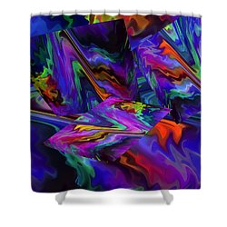 Shower Curtain featuring the digital art Color Journey by Lynda Lehmann