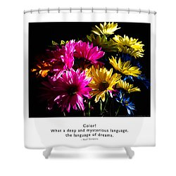 Shower Curtain featuring the photograph Color Language Of Dreams by Kristen Fox