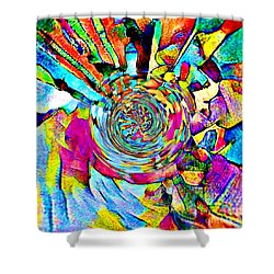 Color Lives Here Shower Curtain