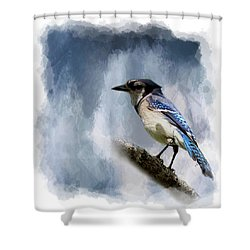 Color Me Blue Shower Curtain by Cyndy Doty