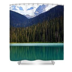 Lower Joffre Lake Shower Curtain by Heather Vopni