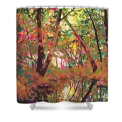 Color Of Forest Shower Curtain