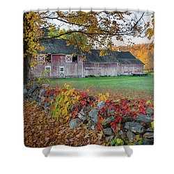 Shower Curtain featuring the photograph Color Of New England by Bill Wakeley