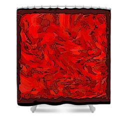 Color Of Red Vi I Contemporary Digital Art Shower Curtain