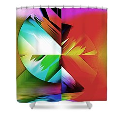 Color Of The Fractal Shower Curtain by Mario Carini