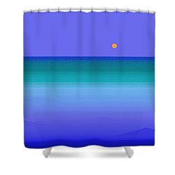 Shower Curtain featuring the digital art Color Of Water by Val Arie
