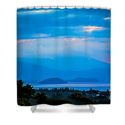 Color Over The Lake Shower Curtain
