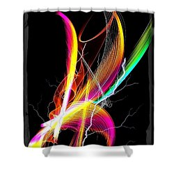 Shower Curtain featuring the digital art Color Palm By Nico Bielow by Nico Bielow