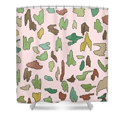 Color Pattern 3 Shower Curtain