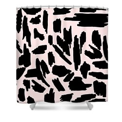 Color Pattern 5 Black Shower Curtain