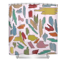 Color Pattern 5 Shower Curtain