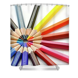 Color Pencils Shower Curtain