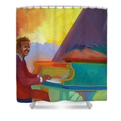Color Piano Justin Levitt Steinway Shower Curtain