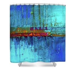 Shower Curtain featuring the painting Color Pond by Nancy Merkle