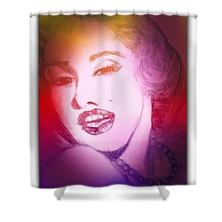 Color Rendition Of Marilyn Monroe #2 Shower Curtain