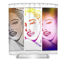 Color Rendition Of Marilyn Monroe #3 Shower Curtain