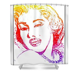 Color Rendition Of Marilyn Monroe Shower Curtain