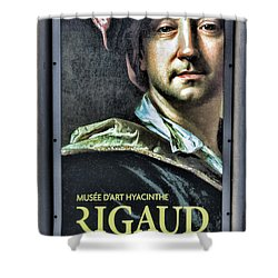 Color Rigaud Musee D' Art Perpignan France Up Close  Shower Curtain