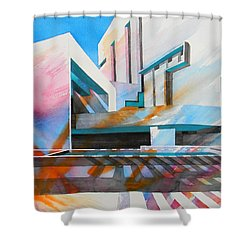 Shower Curtain featuring the painting Color Simphony by J- J- Espinoza