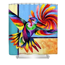 Color Spinner Shower Curtain