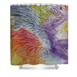 Shower Curtain featuring the drawing Color Spirit by Marat Essex