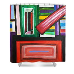 Color Squares Shower Curtain by Jose Rojas