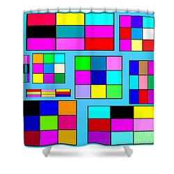 Color Squares Shower Curtain